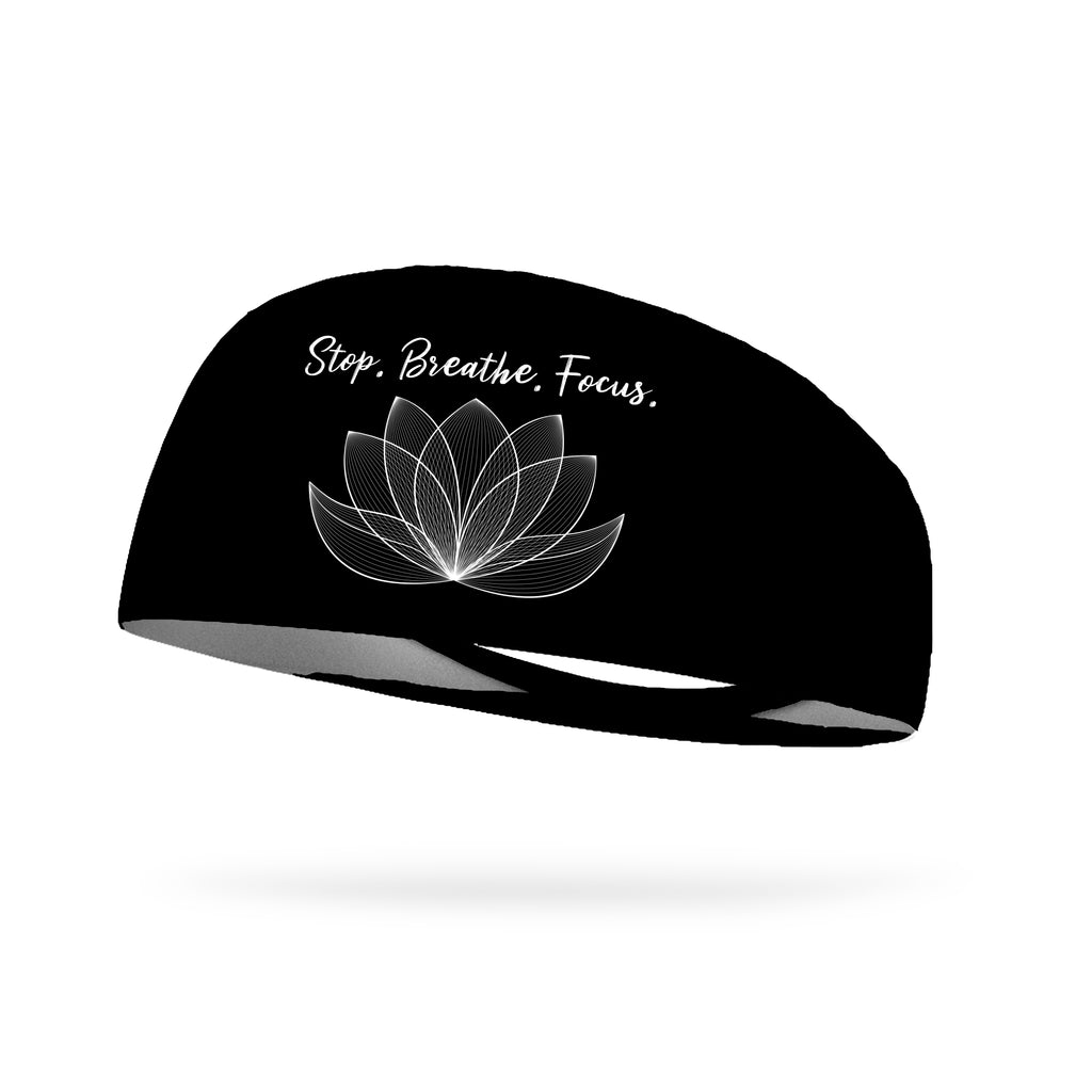 Stop Breathe Focus Lotus Wicking Performance Headband (Designed by Jill Gunkel)