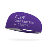 Stop Collaborate and Listen Teacher Performance Wicking Headband