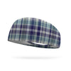 Stormy Skies Plaid Wicking Performance Headband