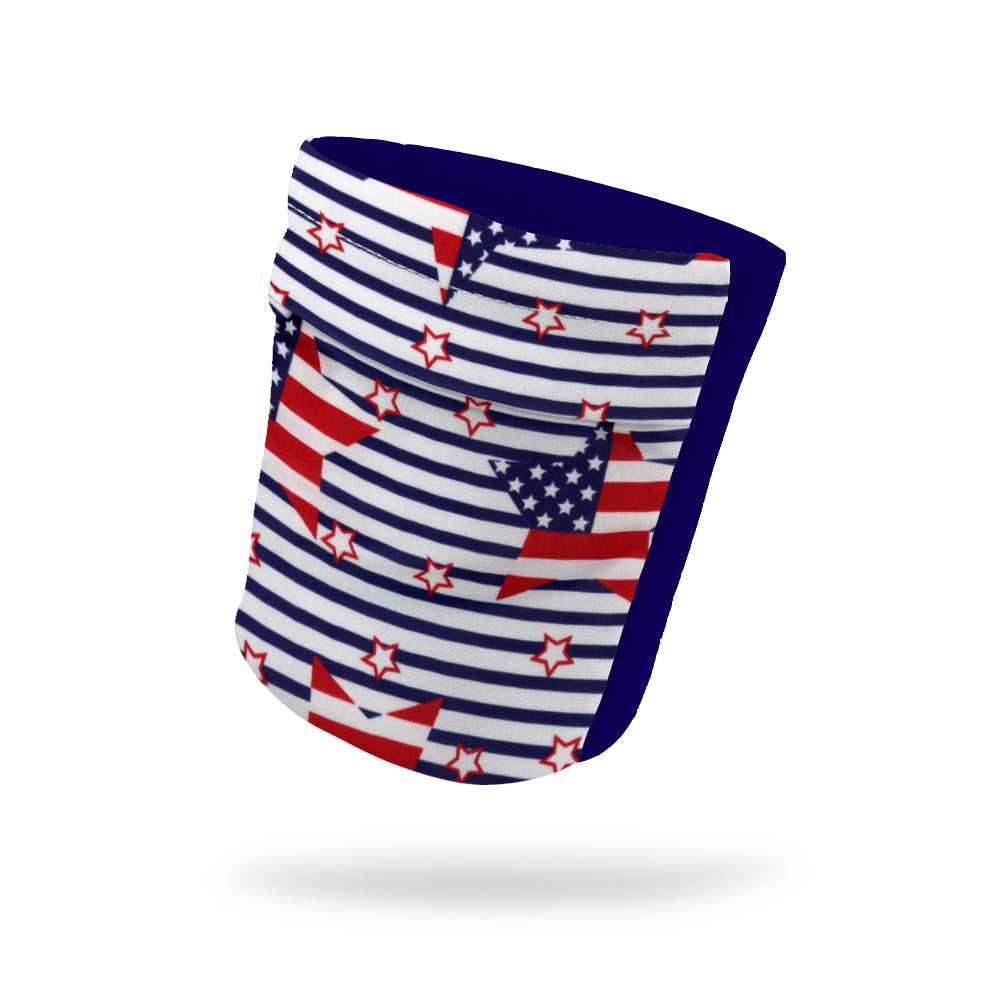 "Striped American Flags Wicking Armband 6.22"" Height"