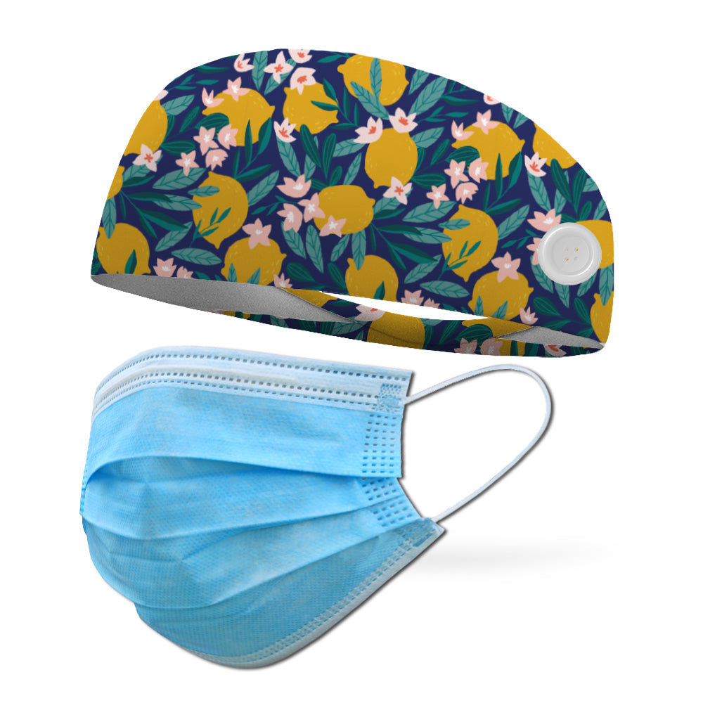 Summer Lemons Wicking Performance Headband
