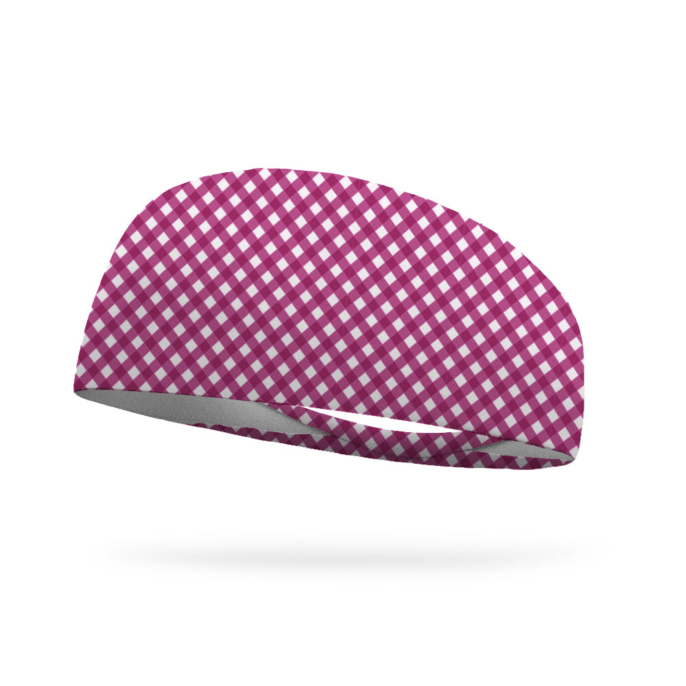 Summer Gingham Performance Wicking Headband