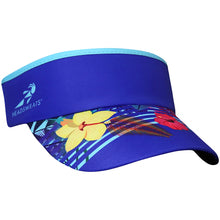 Floral Blue Visor (Add Buttons for Face Mask)