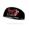 Sweet But A Little Twisted Candy Cane Wicking Performance Headband