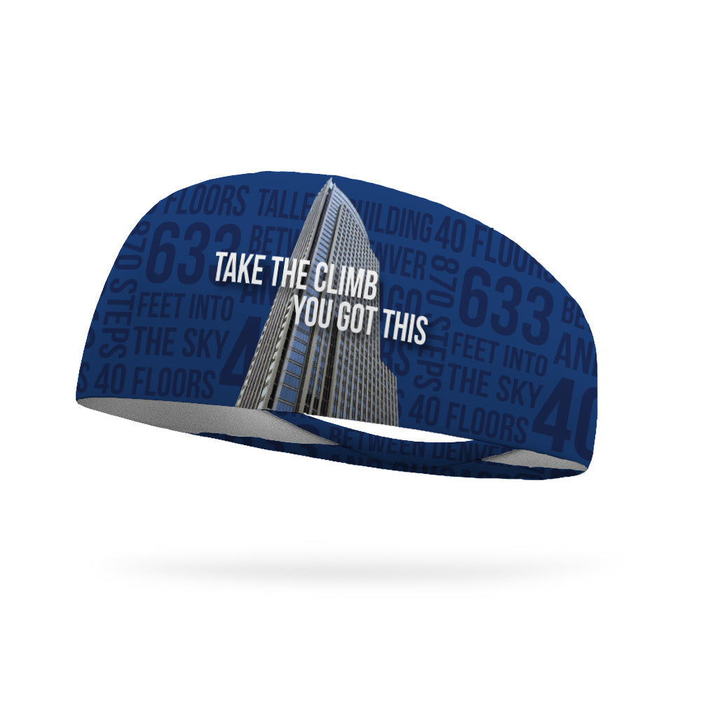 Take The Climb Trek The Tower Wicking Performance Headband (Designed by (Elaine Zoucha)