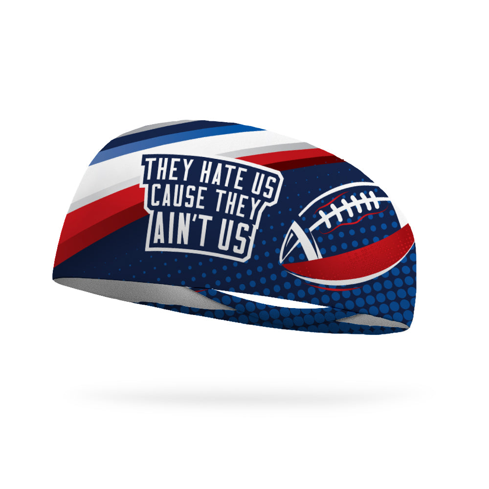They Hate Us Cause They Ain't Us Wicking Performance Headband
