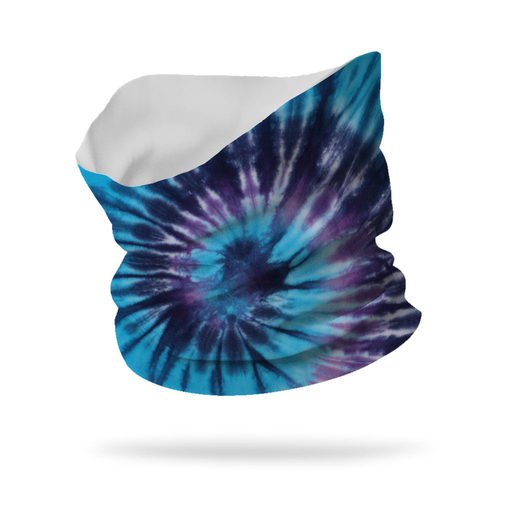 "Lycra Tie Dye Blue Hippie Neck Gaiter (12"" length)"