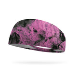 Tie Dye Sassy Pink Performance Wicking Headband