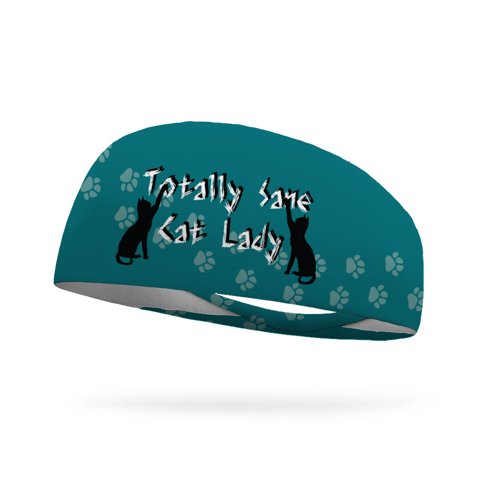 Totally Sane Cat Wicking Performance Headband (Designed by (Andrea Case)