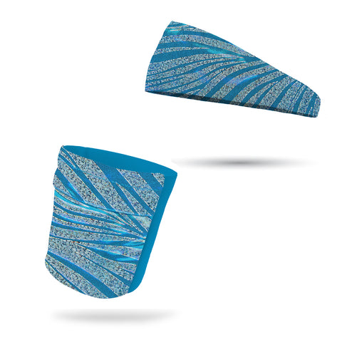 Pacific Blue Camo Performance Wicking Headband