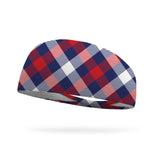 USA Plaid Wicking Performance Headband