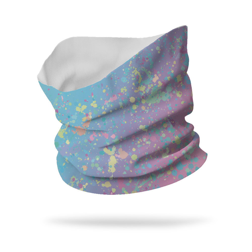 "Lycra Unicorn Splatter Neck Gaiter (12"" length)"