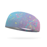 AlyFitMom Collection Unicorn Splatter Wicking Performance Headband