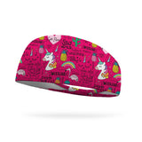 Unicorns and Flamingo Wicking Performance Headband (Designed by Deb Olson)