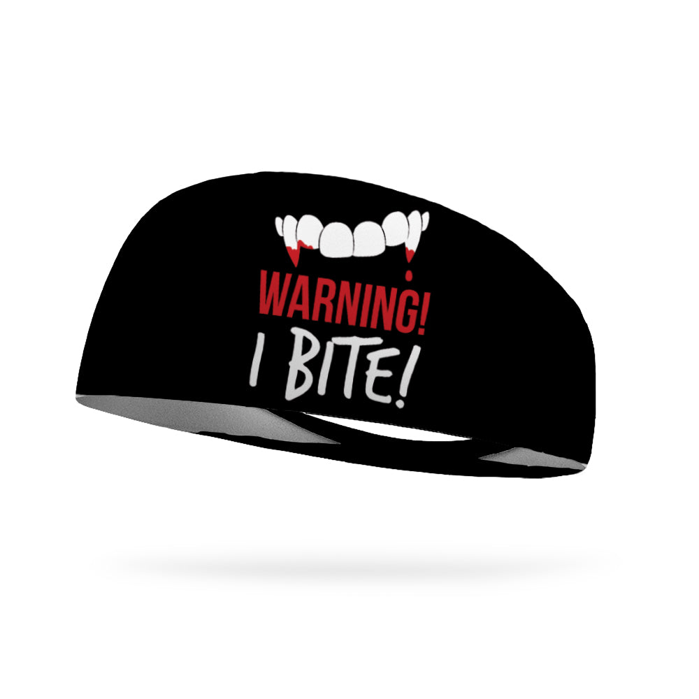 Warning I Bite Wicking Performance Headband