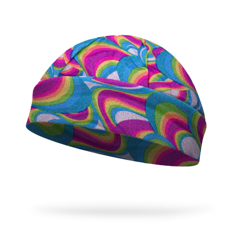 Wavy Rainbow Sparkle Fashion Regular Hat