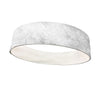 White Furry with White Wicking Headband - Flat Back