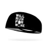 Will Run For Wine Wicking Headband