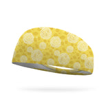 Yellow Garden Wicking Performance Headband