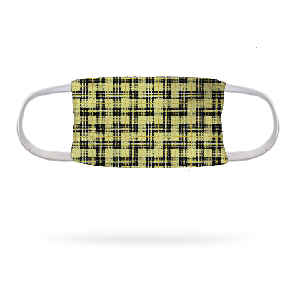 Yellow Plaid Uniform Face Mask