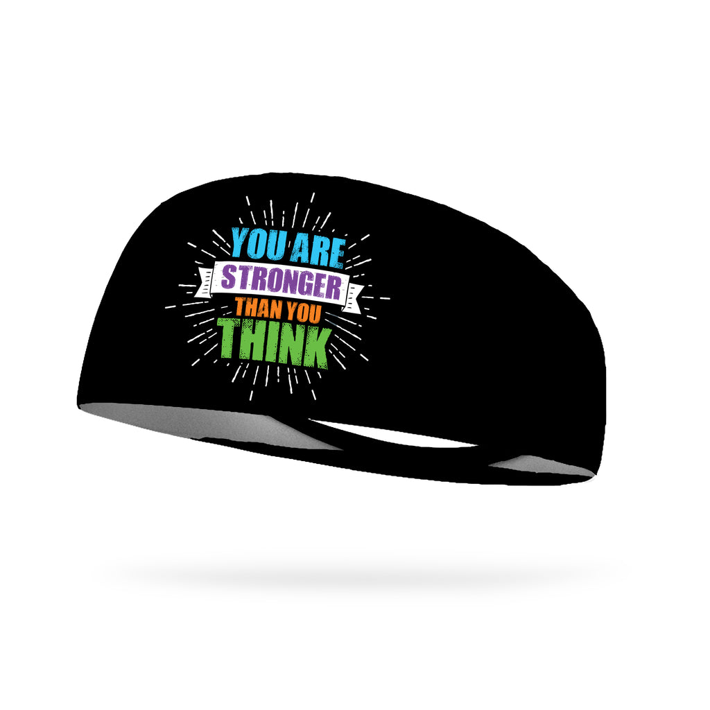 You Are Stronger Than You Think Wicking Performance Headband (Designed by Erin Swancutt)