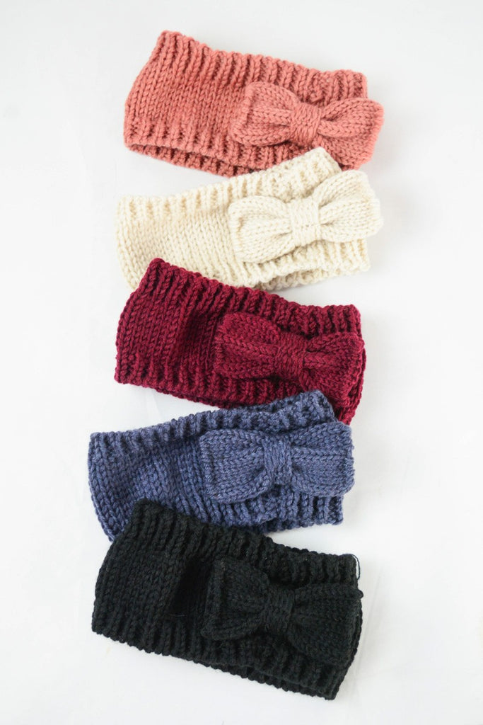 Knit Bow Headbands
