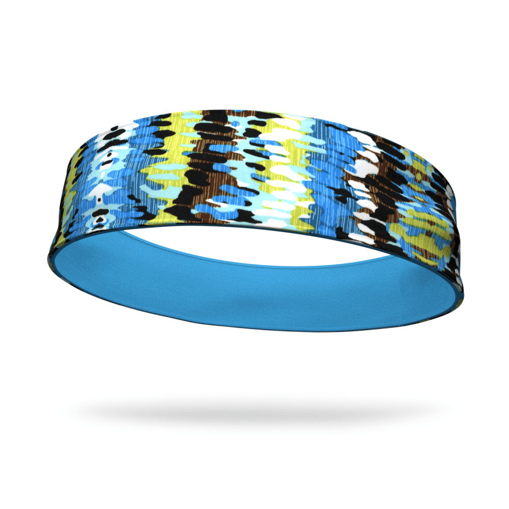 Aqua Wicking and Bamboo Showers Fashion Reversible Headband - Bondi Band