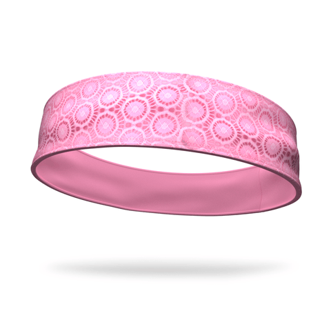 Fashion Crisscross Pink Shimmer Headband