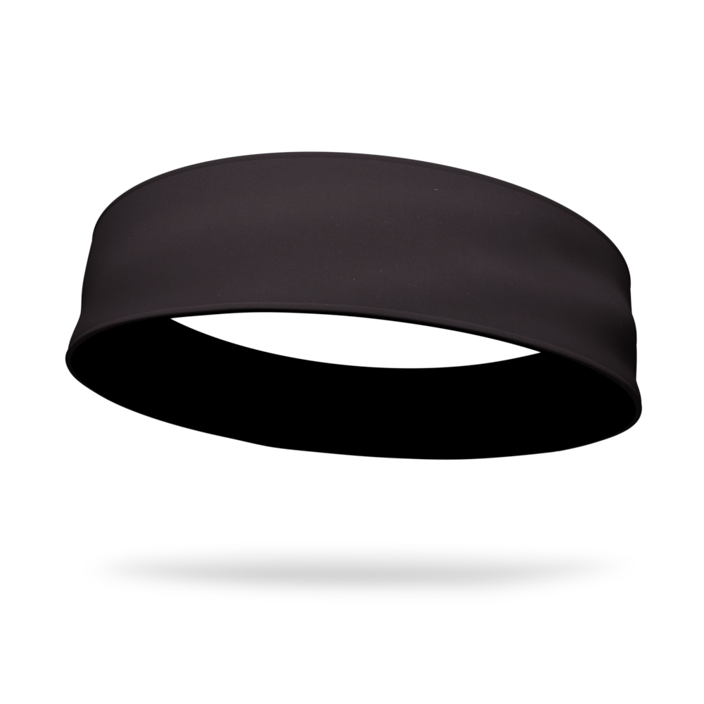 Black and Black Wicking Reversible Headband