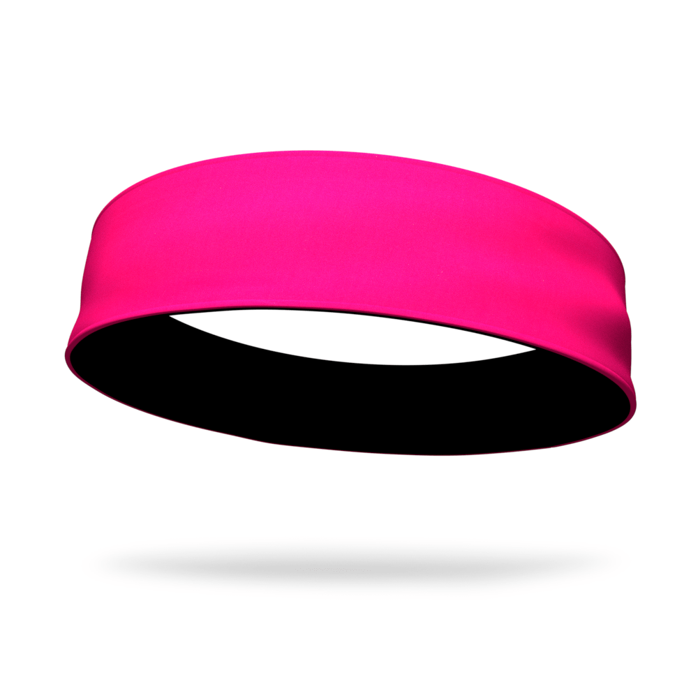 Black and Hot Pink Wicking Reversible Headband