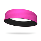 Black and Neon Pink Wicking Reversible Headband