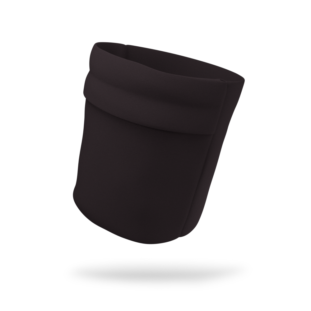 Midnight Black Solid Color Wicking Armband