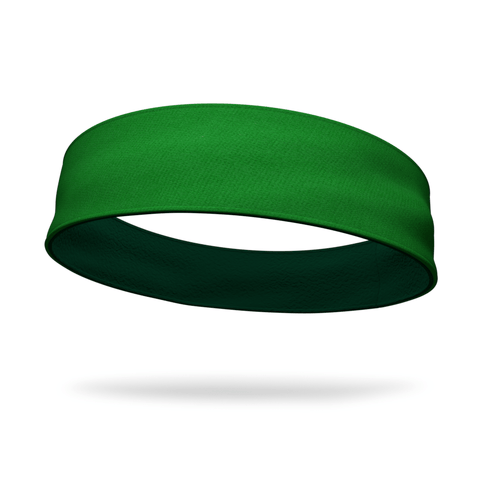 Red and Forest Green Wicking Reversible Headband