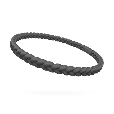 Black Single Braided Skinnyband