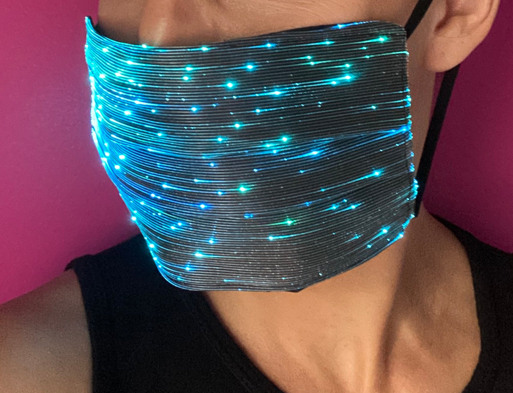 Square Shaped Light Up Face Mask (multi color)