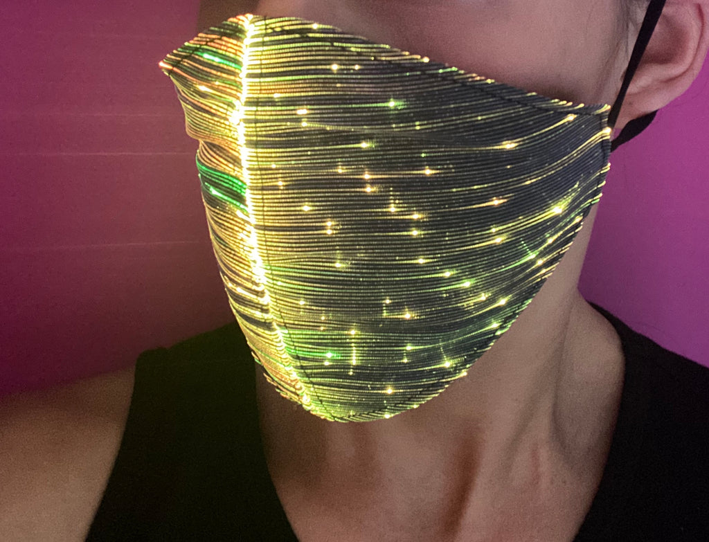 Diamond Shaped Light Up Face Mask (multi color)