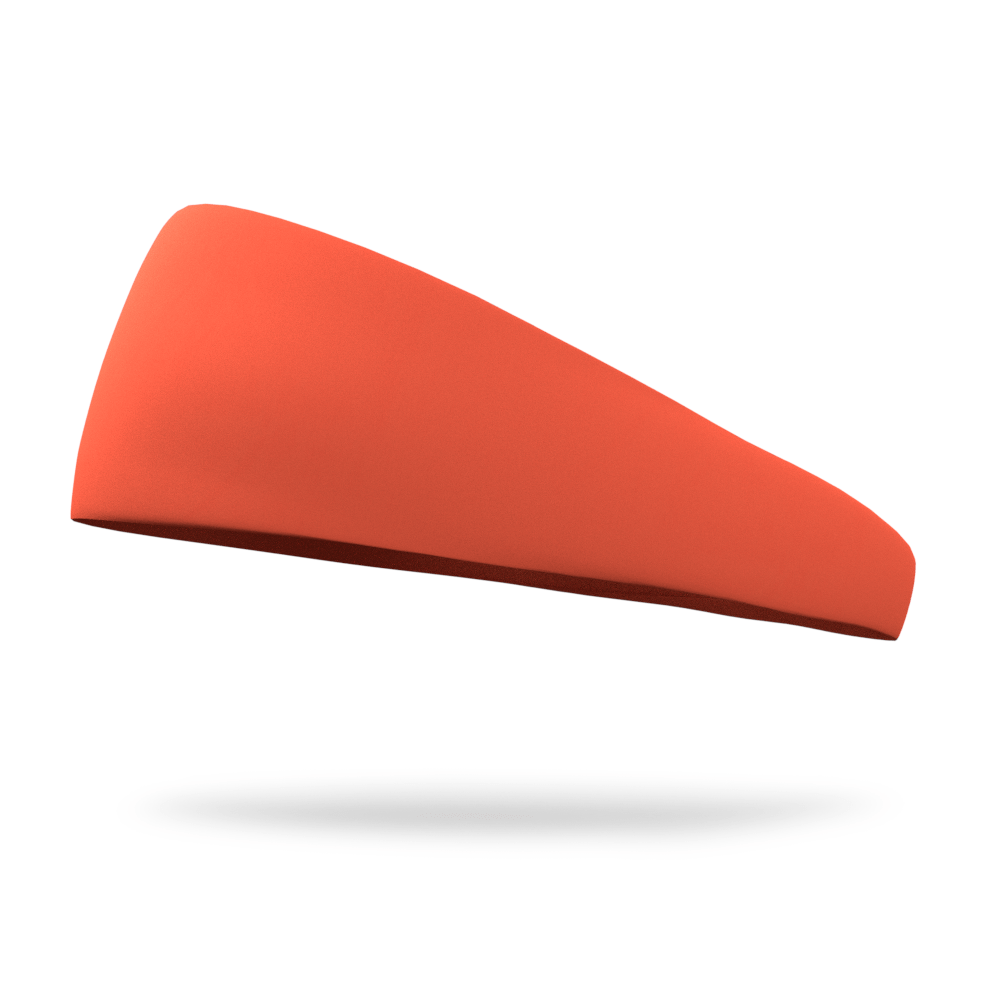 Hazard Neon Orange Solid Color Headband