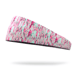 Neon Pink and Mint Static Fashion Headband