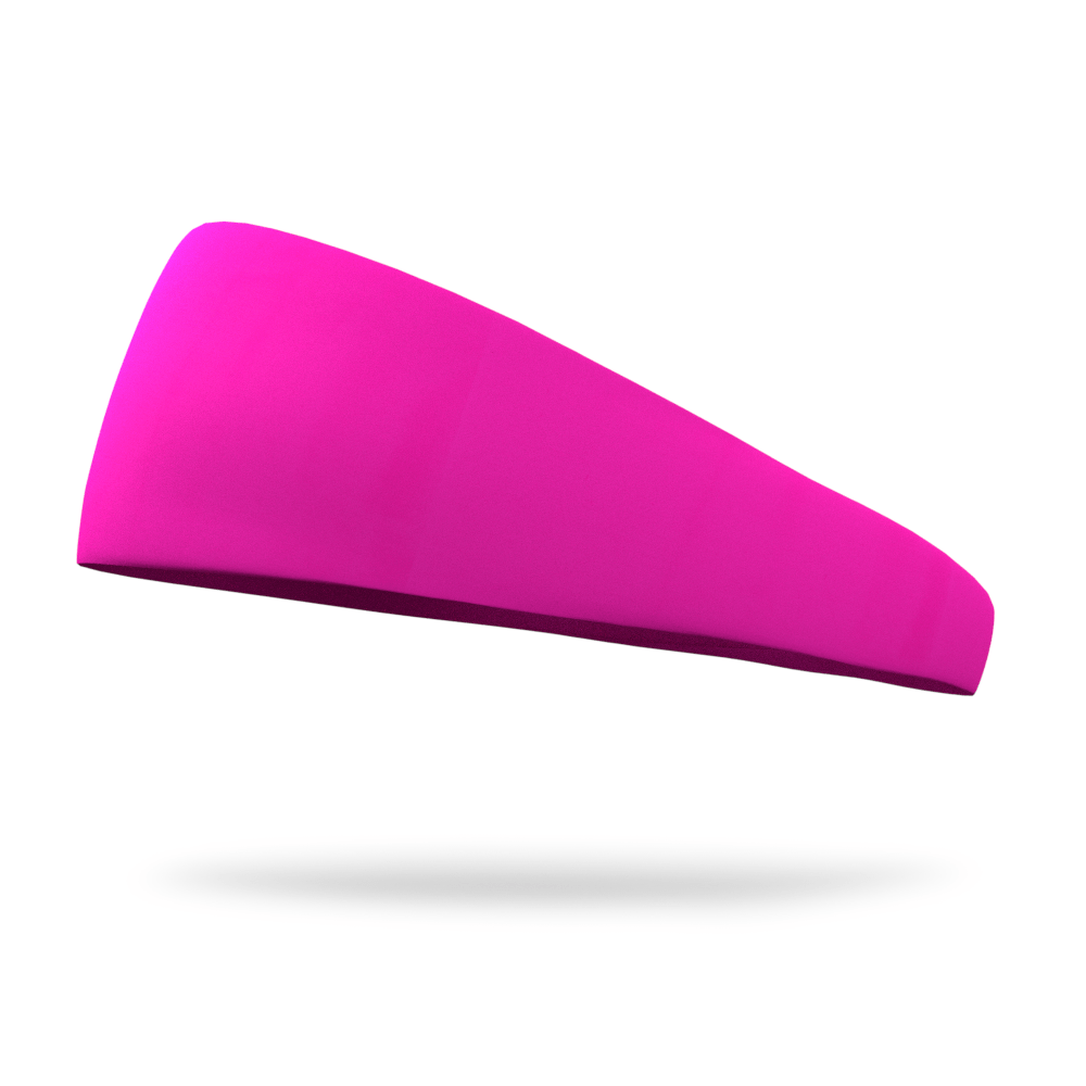 Cyber Neon Pink Solid Color Headband