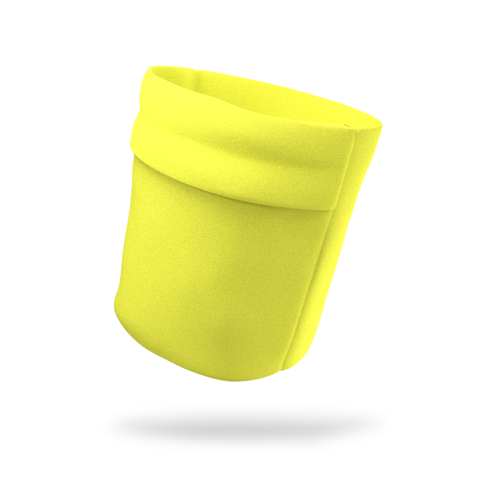 Electric Neon Yellow Solid Color Wicking Armband