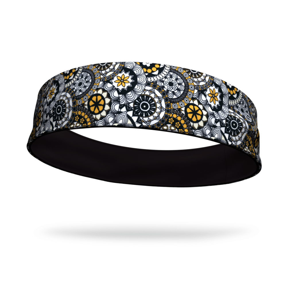 Poker Chips Fashion and Black Wicking Reversible Headband