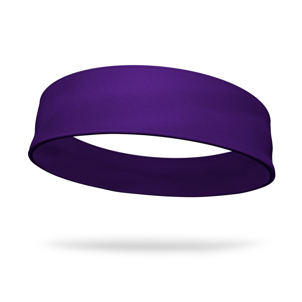 Purple and Purple Wicking Reversible Headband