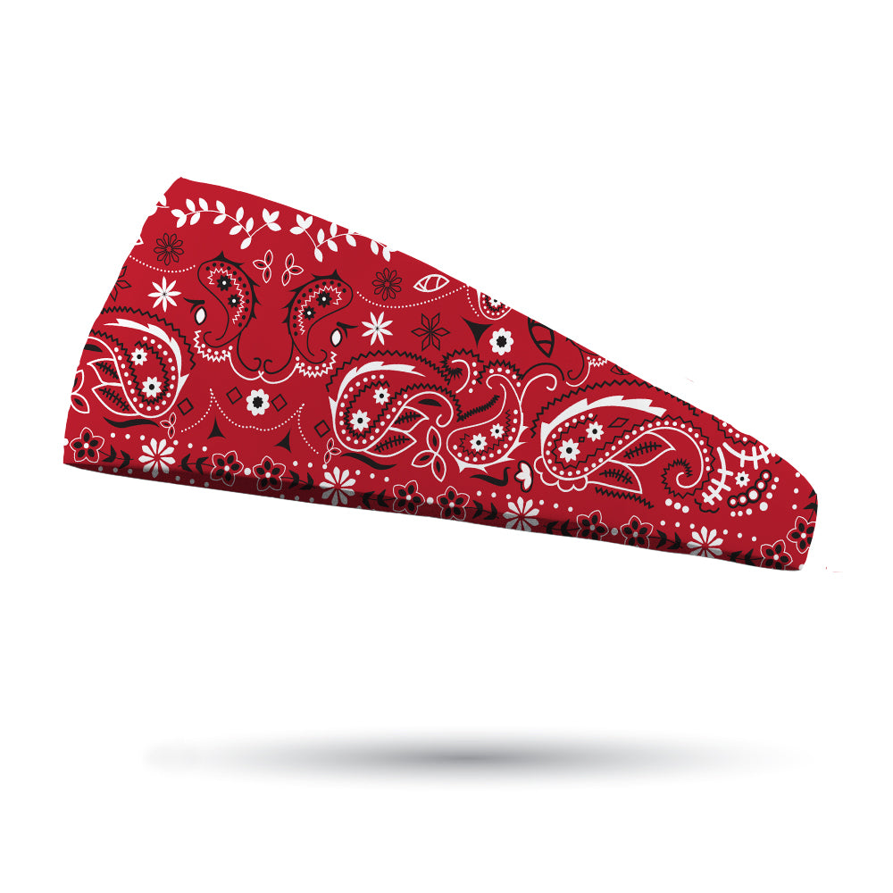 Red Bandana Performance Wicking Headband - Bondi Band 5dda992fc89