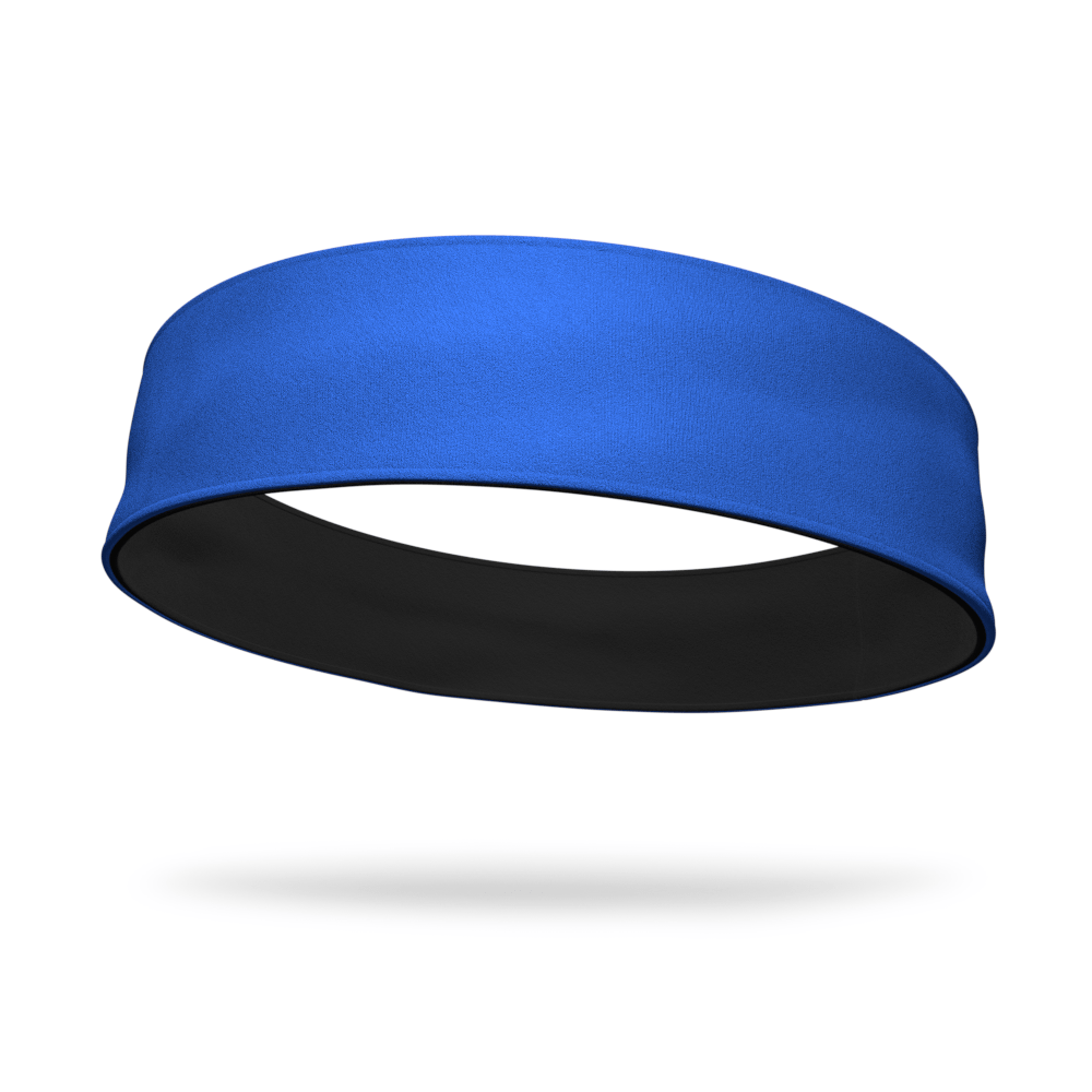 Royal and Black Wicking Reversible Headband