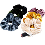 Velvet Scrunchie with Hidden Zipper Pocket Hair Tie (Set of 6)