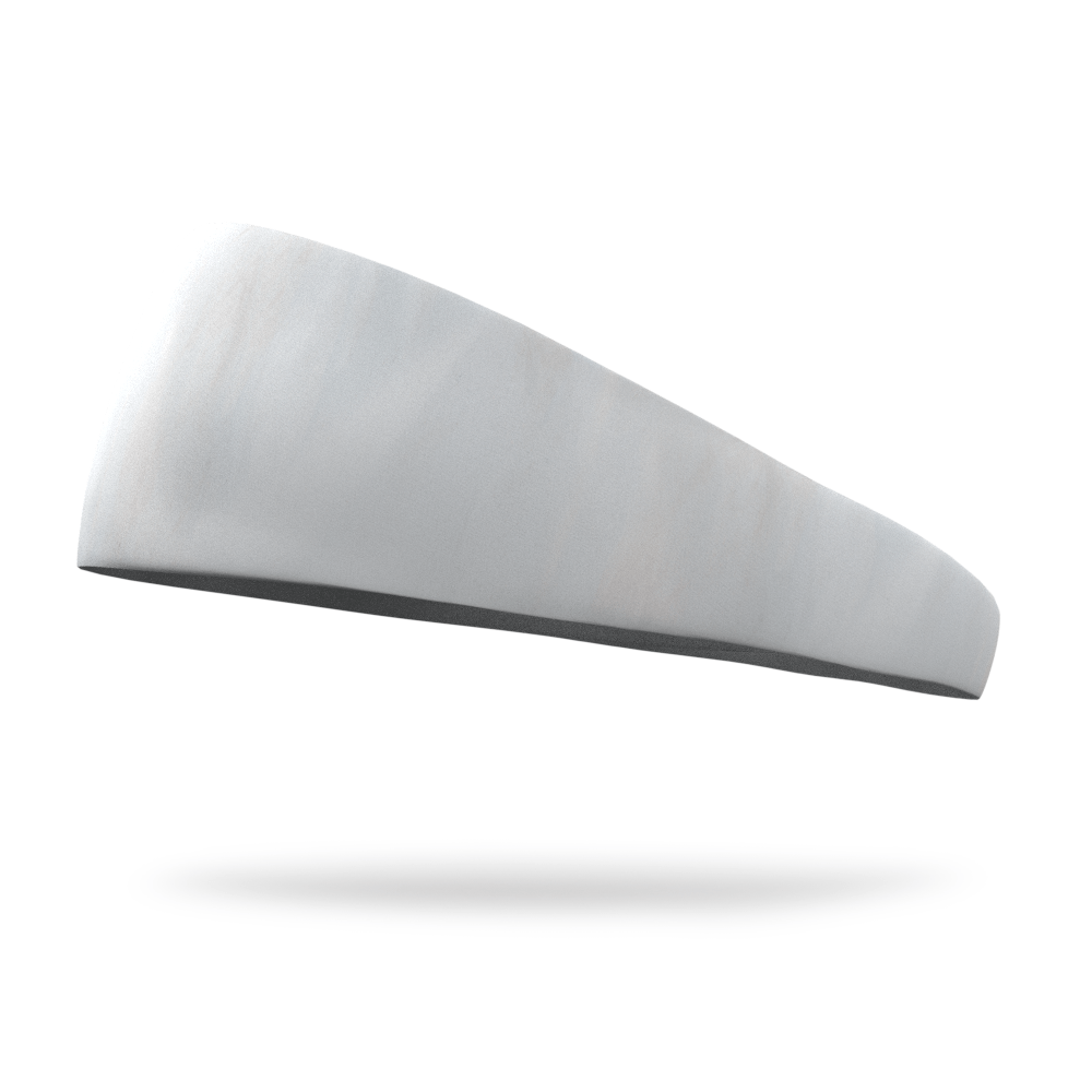 Snowflake White Solid Color Headband