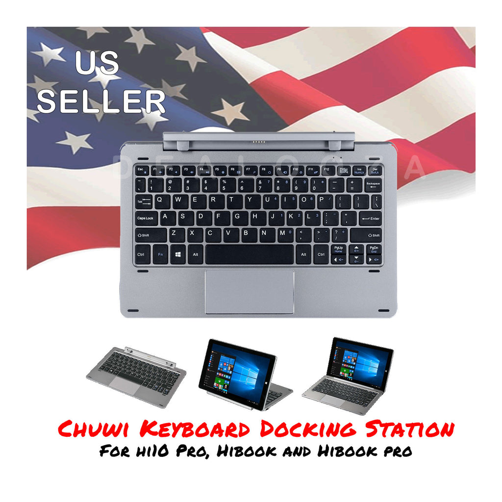 Chuwi Tablet PC Magnetic Pogo Keyboard Dock for HiBook Pro and Hi10 Pro Silver