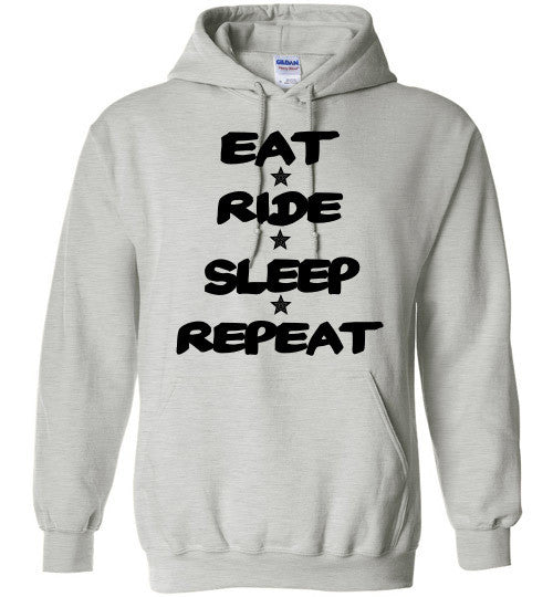 Eat Ride Sleep Repeat Hoodie Sweatshirt - Furbabies.love - 2