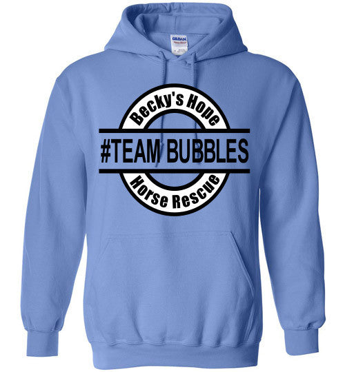 Becky's Hope Horse Rescue #TEAM BUBBLES Hoodie - Furbabies.love - 1