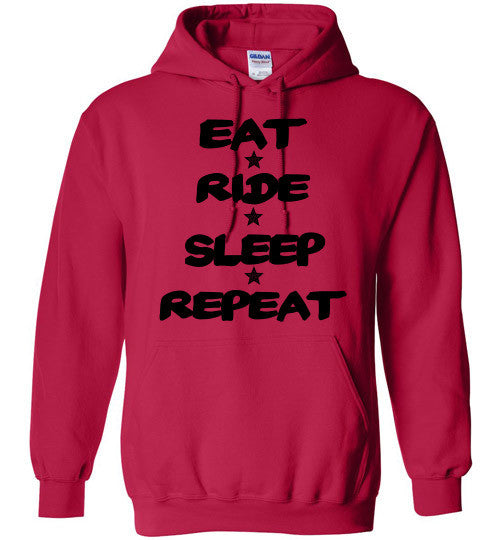 Eat Ride Sleep Repeat Hoodie Sweatshirt - Furbabies.love - 4